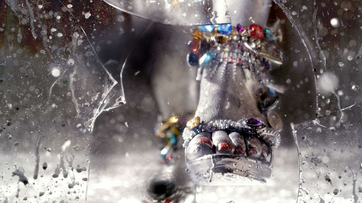 Smash (video still), 2014, HD Digital Video, Running time: 7:55 minutes, Ratio 16:9. Courtesy of the artist and Salon 94, N.Y. © Marilyn Minter. (high heel image)