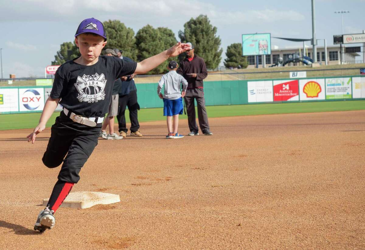 Area youth compete in the MLB Pitch, Hit and Run skills competition, in conjunction with the Midland Parks and Recreation Department, to try to advance to the next level of competition with a final spot on Team Championships at a Major League park 03/24/21 at Momentum Bank Ballpark. Tim Fischer/Reporter-Telegram