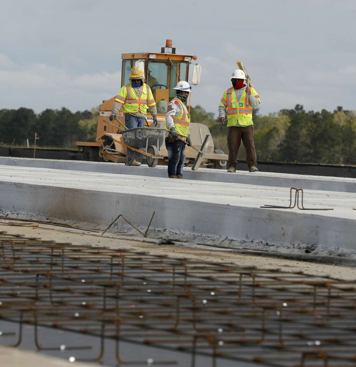 Reconstruction continues on taxiway at Conroe-North Houston Regional Airport, Thursday, March 25, 2021, in Conroe. Since 2011, operations at the airport have increased 50 percent, according to Airport Director James Brown.