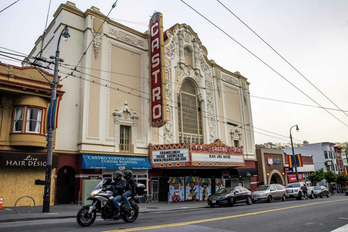 At the Castro Theatre on Tuesday, police arrested a man who allegedly climbed onto the roof and engaged in odd behavior.