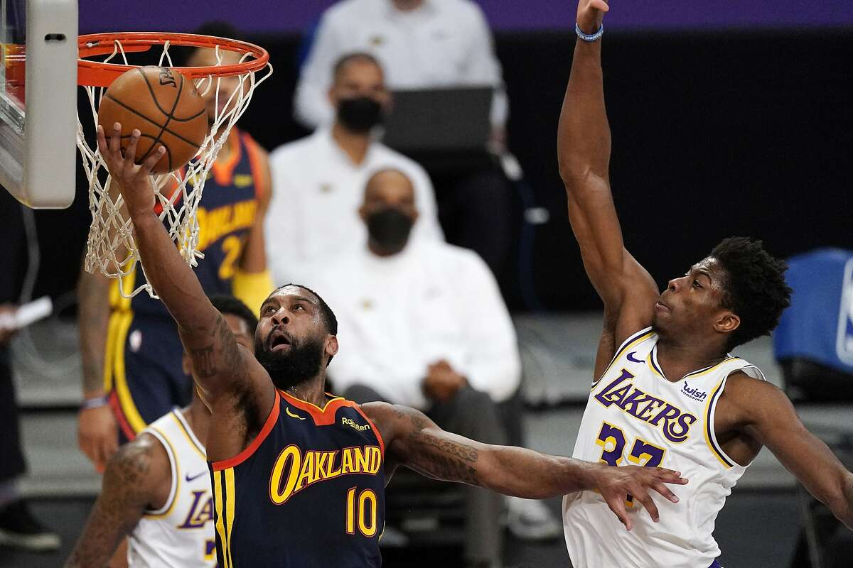 Guard Brad Wanamaker (10) was deemed expendable by the Warriors after second-year player Jordan Poole stepped up his game. Wanamaker was traded to the Hornets on Thursday.