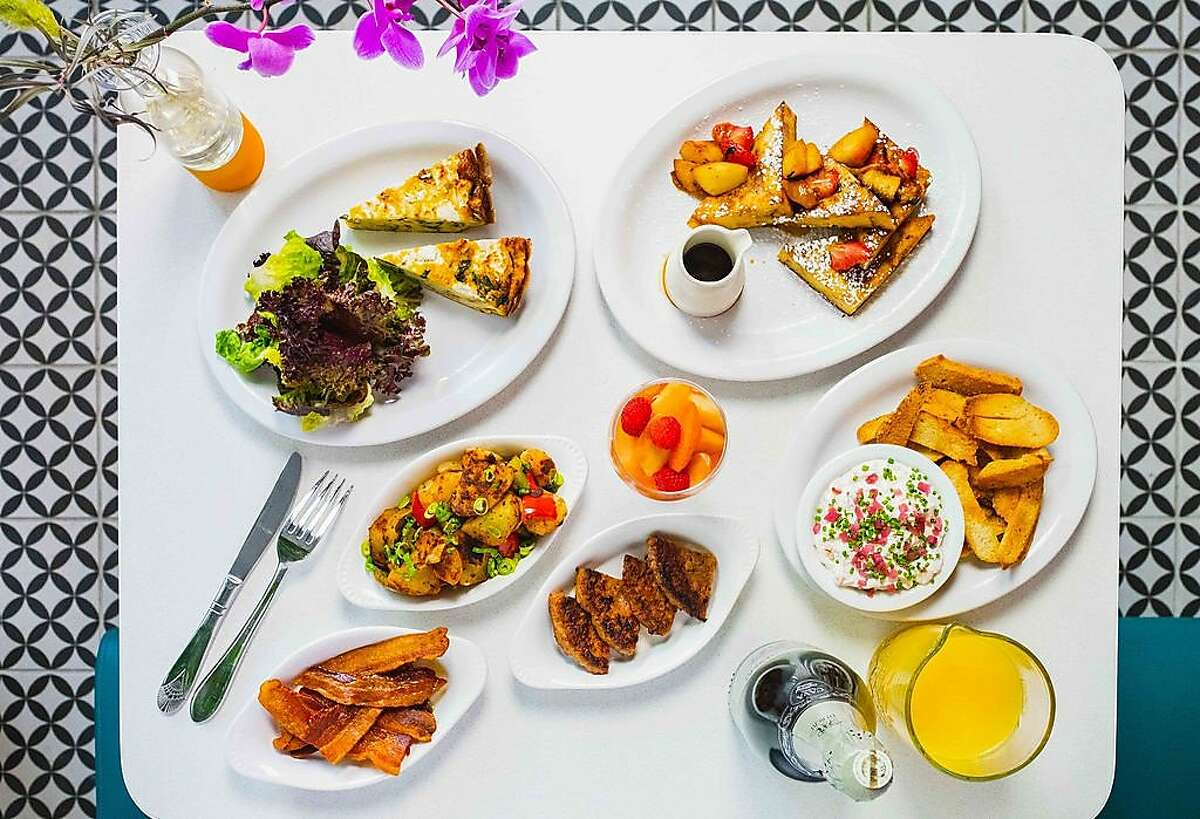 A spread of brunch specials from Oakland restaurant Daughter's Diner for Easter.