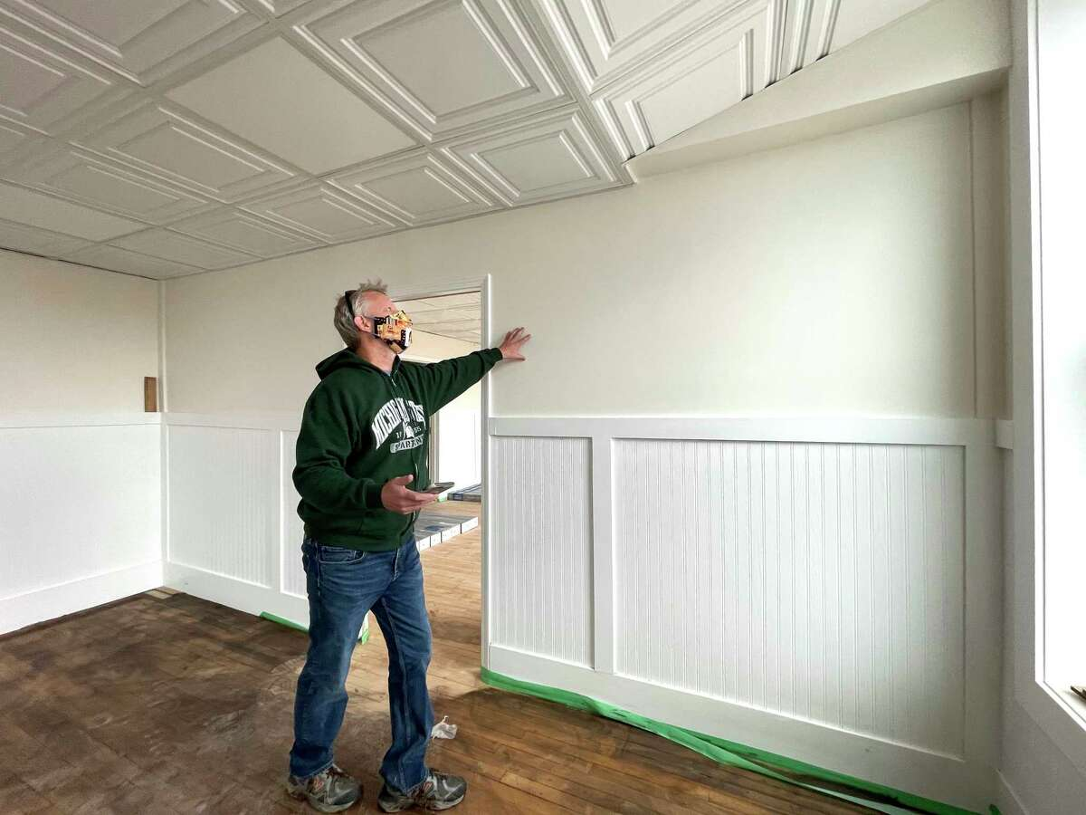 Jerry Boman, owner of Star Shooter's Bar & Restaurant, looks over one of the renovated rooms in an upstairs portion of his business. Boman said he currently has someone interested in renting the space as a dispensary. (Pioneer photo/Bradley Massman)