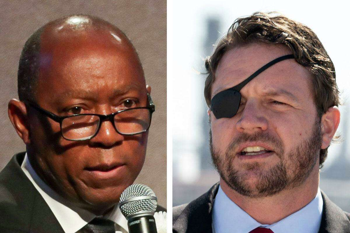 Mayor Sylvester Turner and U.S. Rep. Dan Crenshaw, R-Houston, clashed Wednesday over renewable energy and the city's use of solar power to run its municipal facilities.