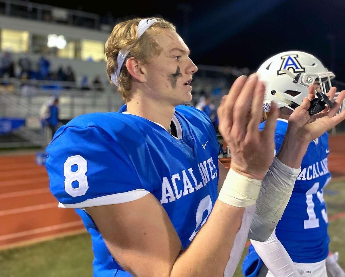 Acalanes senior QB Brady Huchingson threw for 2,646 yards and 29 touchdowns in his junior season.