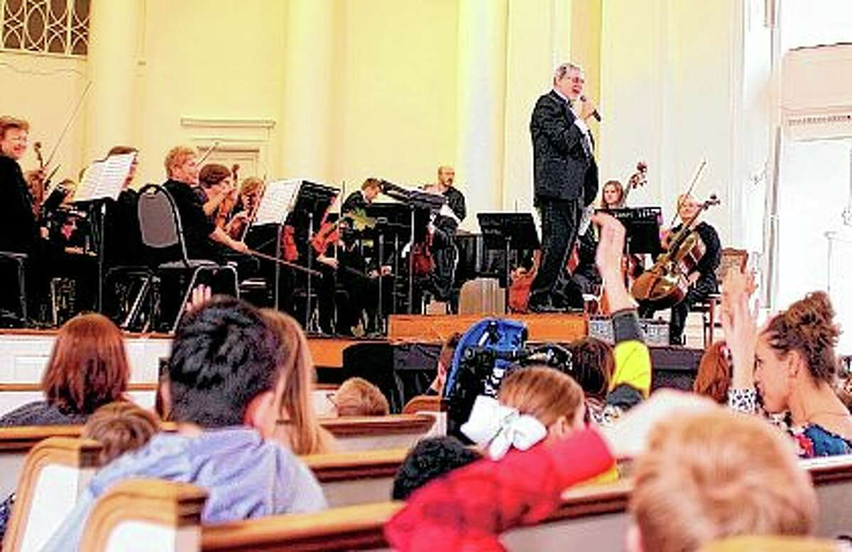 The Jacksonville Symphony Orchestra performs one of its Youth Concerts in February 2019 at MacMurray College's Annie Merner Chapel. The symphony considers the concerts vital, both to growing the symphony's future audiences and to assisting students' music education.