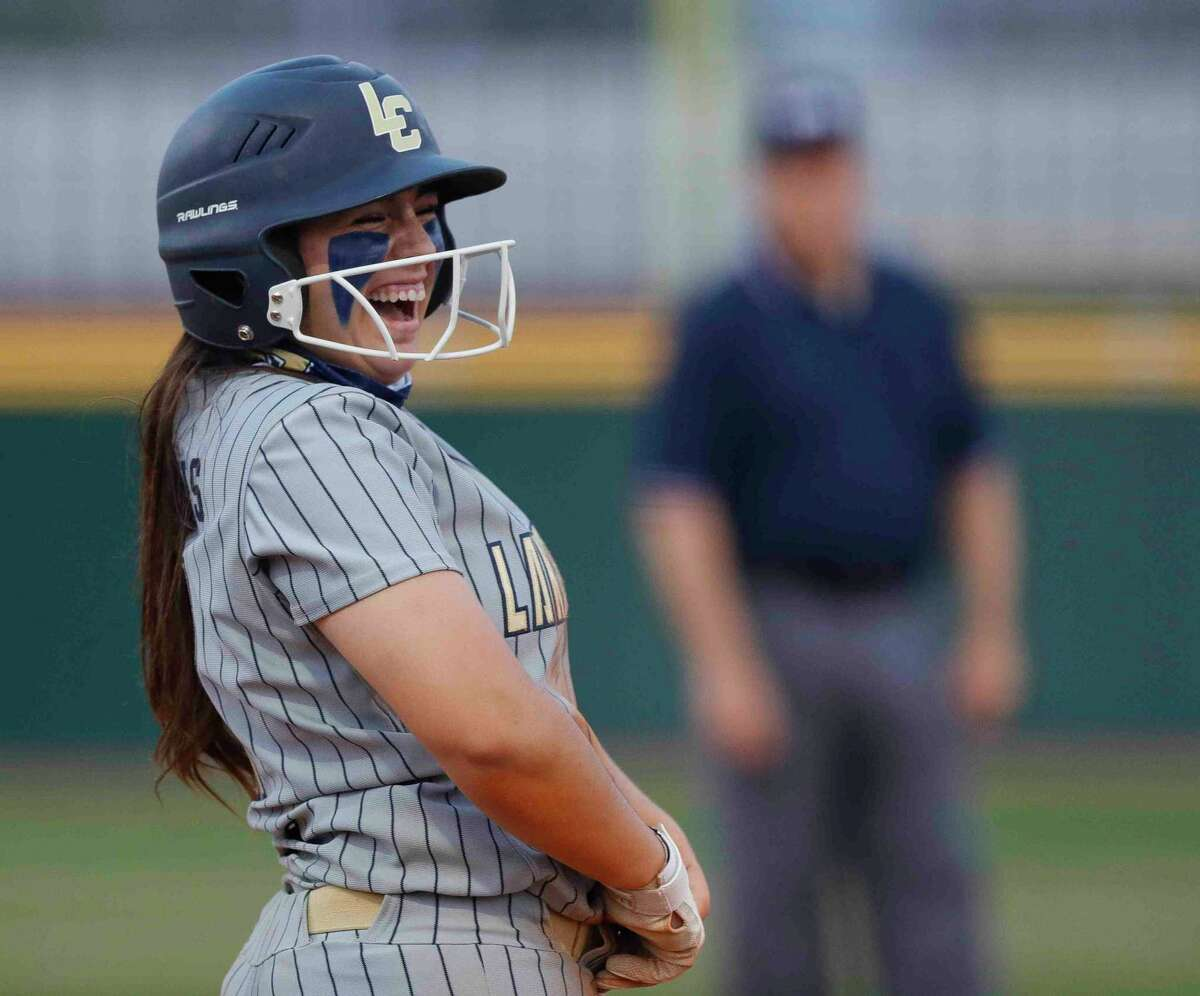 Lake Creek's Madelyn Lopez, shown here earlier this month, hit two homers Thursday at the Humble ISD Round Robin