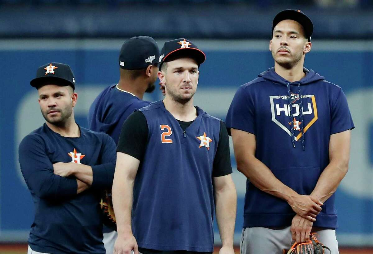The Astros' Jose Altuve and injured Alex Bregman finished second in their respective positions in the first phase of the MLB All-Star fan voting. Carlos Correa was third.