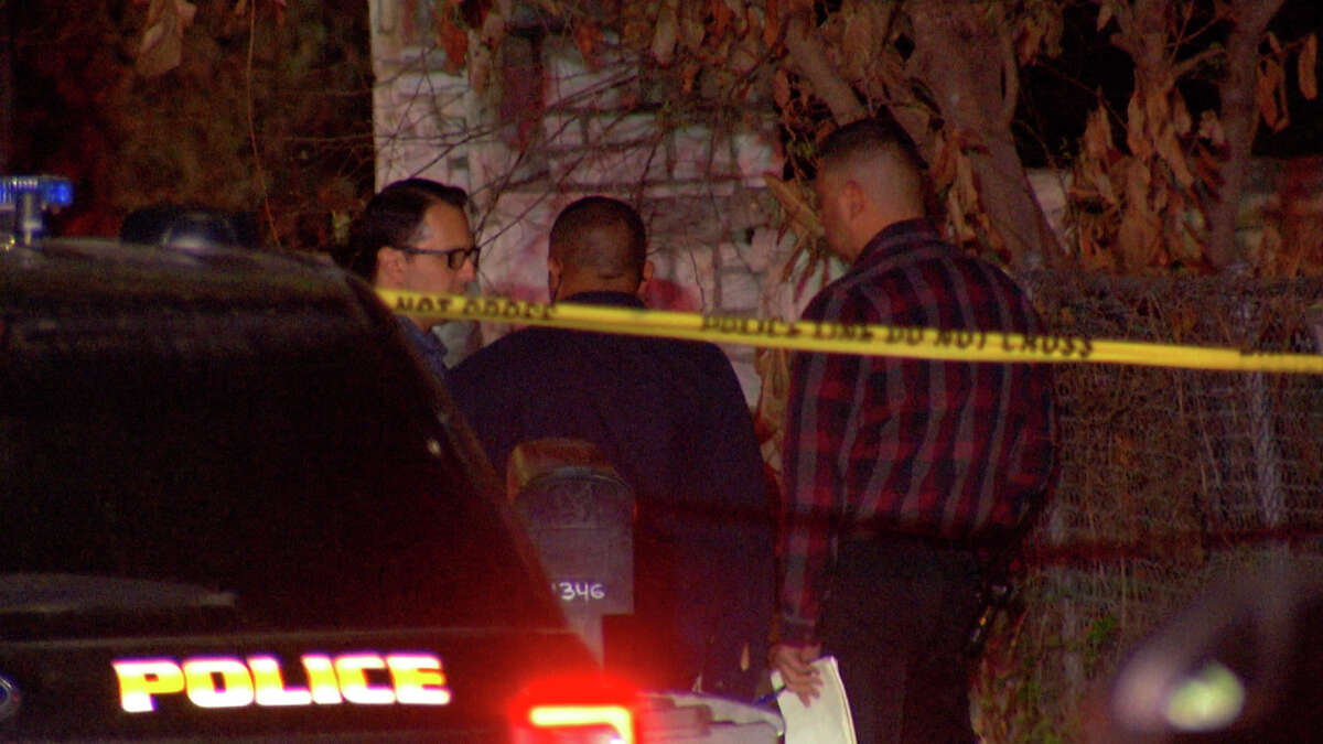 San Antonio police shot and killed a man who was allegedly threatened his estranged wife and children with a knife inside their home in the 1300 block of Brighton Avenue, said Chief William McManus.