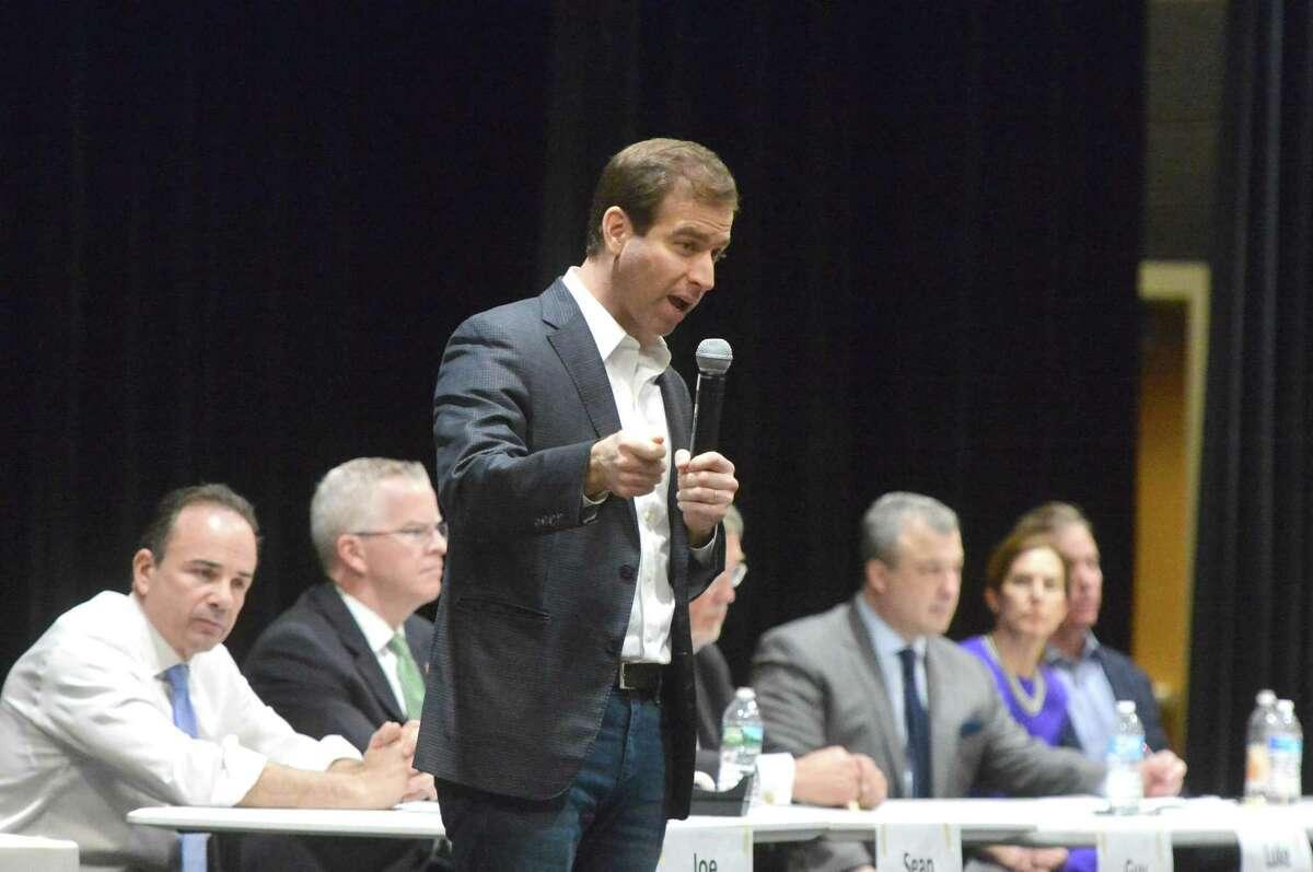 Hartford Mayor Luke Bronin talks about the issues during a gubernatorial forum in 2018.