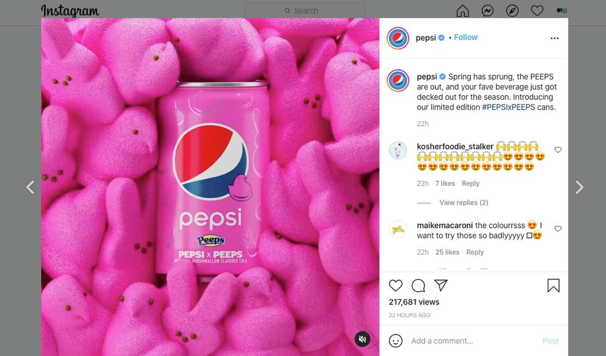 The special edition soda is celebrated with pink, yellow, and blue cans.