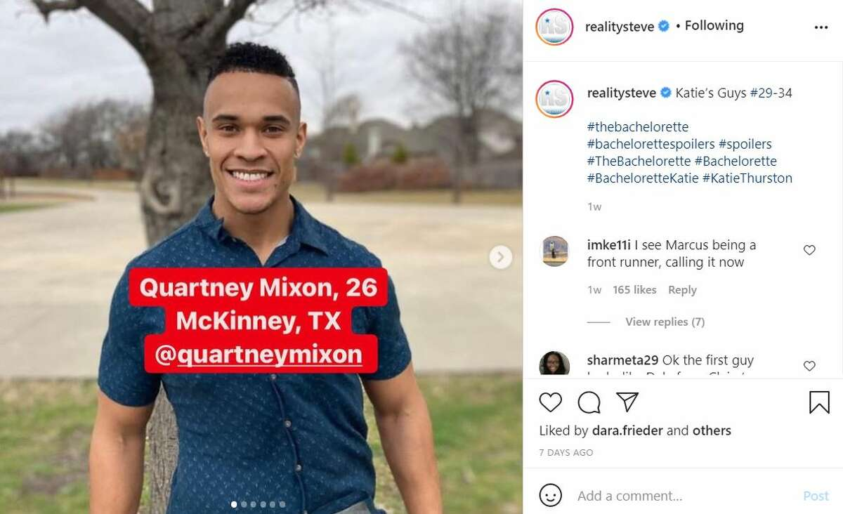 Quartney Mixon, 26, from McKinney No surprise, Mixon's Instagram account is also private but his bio reveals he's a biology student (or he graduated) at Stephen F. Austin State University. He also wrote he's
