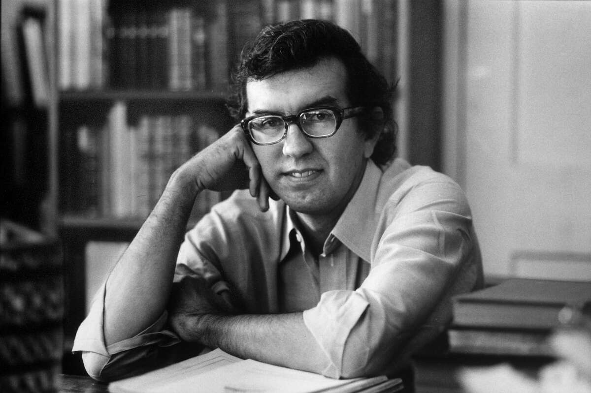 Author Larry McMurtry at his suburban Washington home.