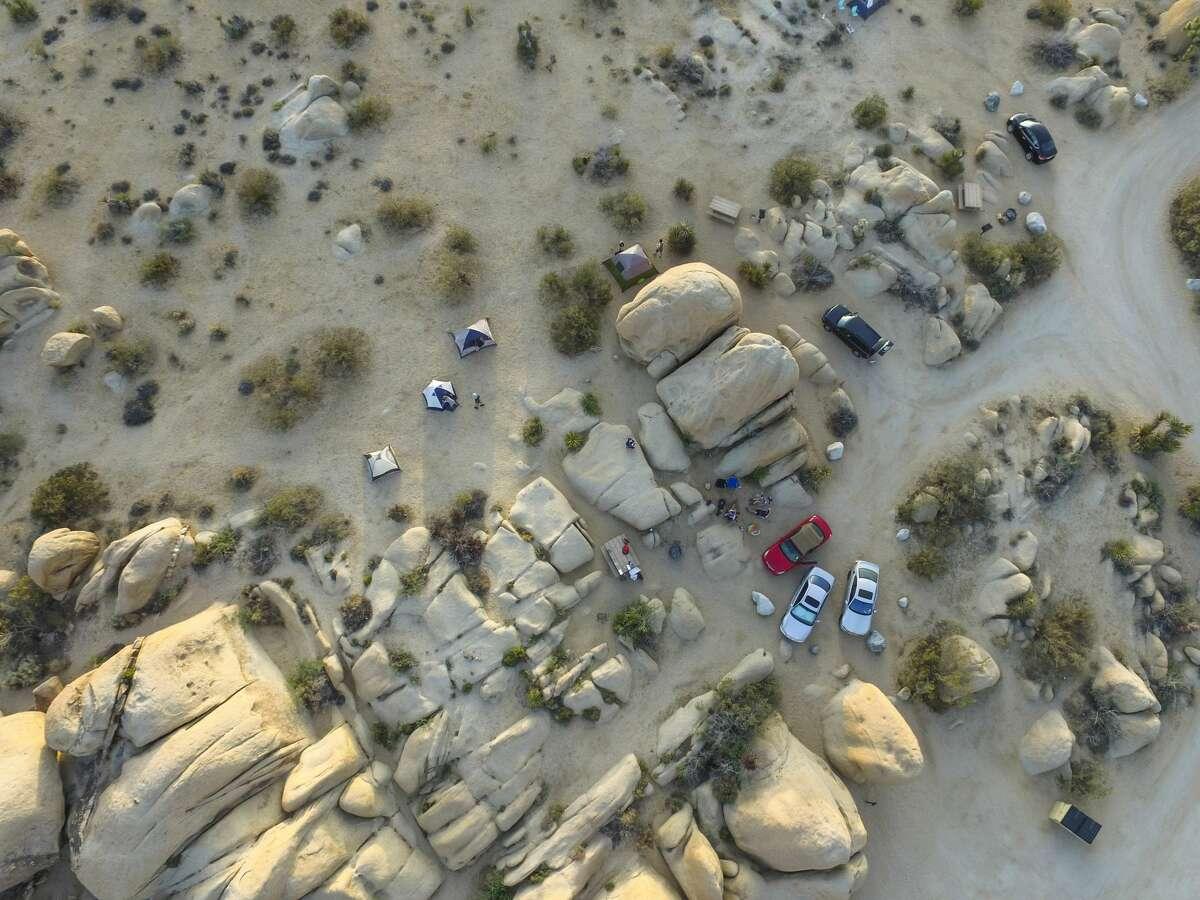 Camping in California's Joshua Tree National Park.