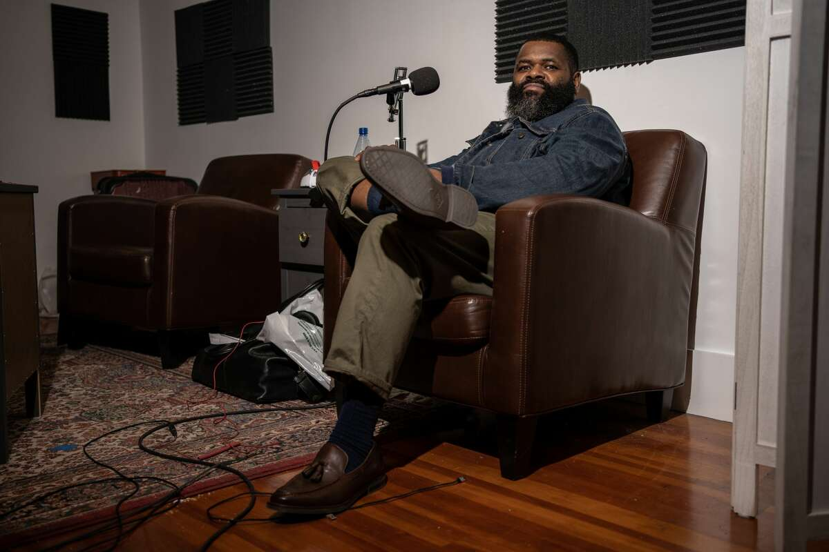 """Comedian Kaseem Bentley, co-host of the podcast """"White Slavery."""""""