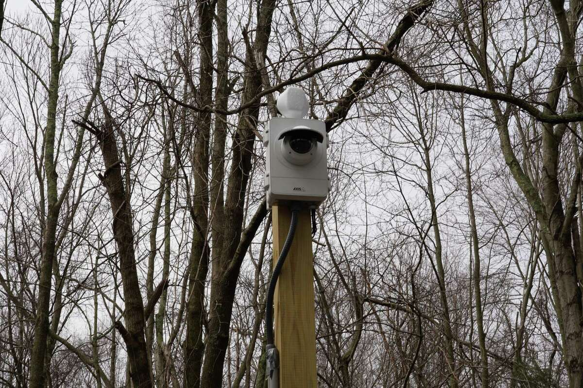 Cameras have been installed at Waveny Park in New Canaan. Picture taken March 25, 2021.