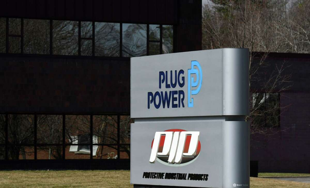 Plug Power's headquarters on Friday, March 26, 2021, in Colonie. The company is facing state and federal lawsuits over its financial accounting. (Will Waldron/Times Union)