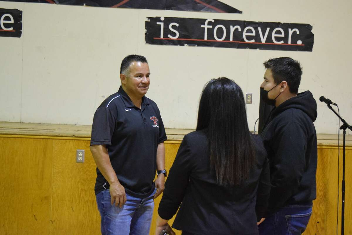 """Thomas Valles, a cross country runner highlighted in the film, """"McFarland USA,"""" spoke at JJAEP on Tuesday (March 23)."""