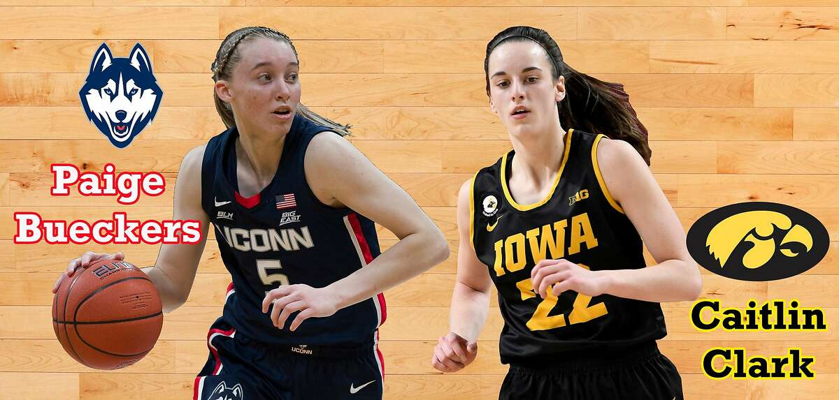 Two of the country's top freshmen, Connecticut's Paige Bueckers (19.9 points per game) and Iowa's Caitlin Clark (nation-best 26.8 ppg), meet in the Sweet 16 at 10 a.m. Saturday (Channels 7, 10).