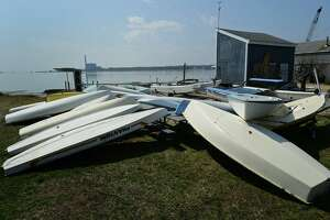 The Norwalk Sailing School at Calf Pasture Beach Friday, March 26, 2021 in Norwalk, Conn The sailing school which has operated for over 50 years is closing after the city failed to renew the school's lease.