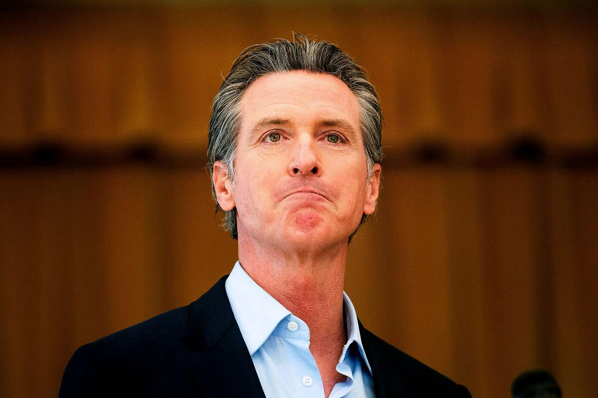 Gov. Gavin Newsom's support is low in many rural counties in California.