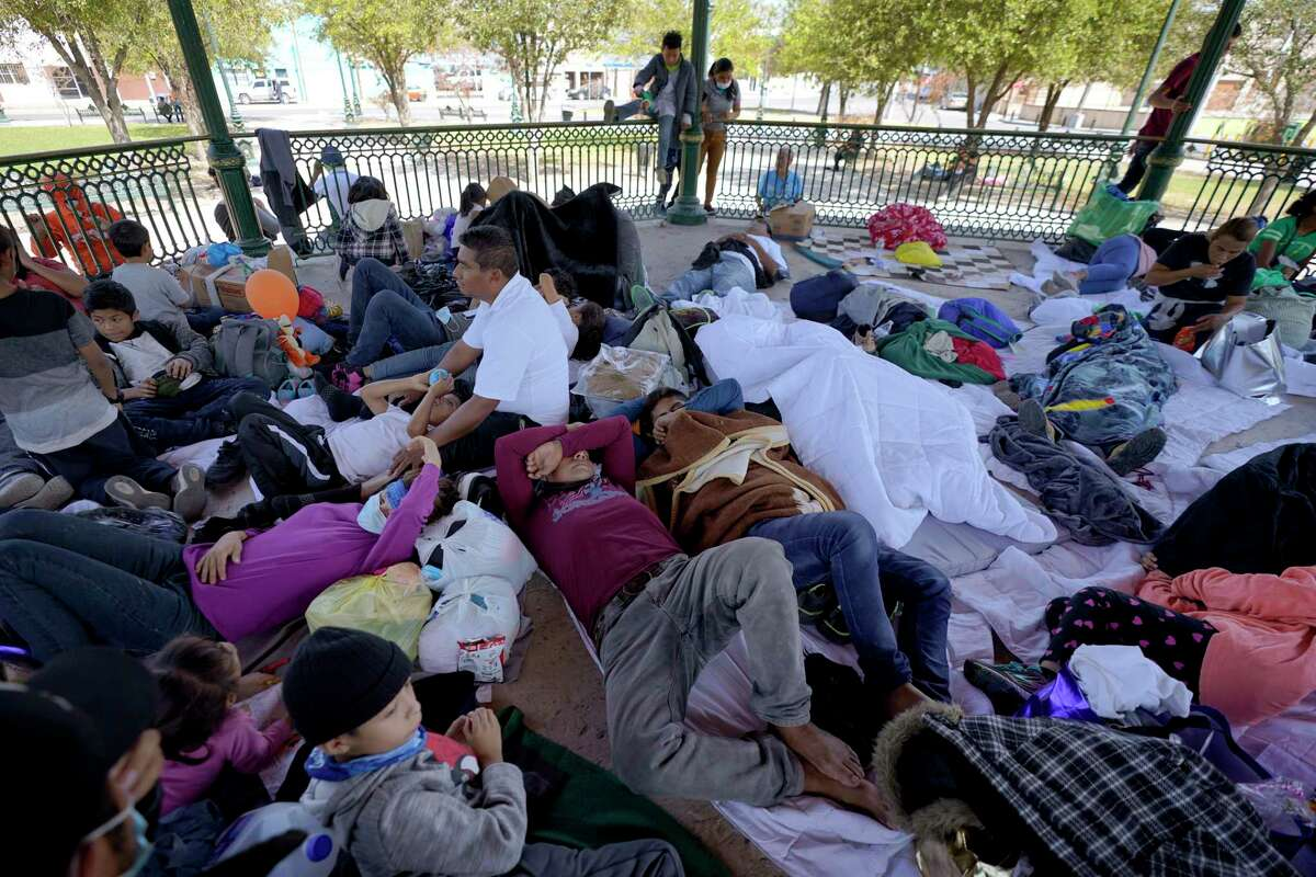 A group of migrants rest at a gazebo in Reynosa, Mexico on March 20. The U.S.-Mexico border symbolizes the contradictions of the country's approach to immigrants, emodying inequality while we fail to acknowledge the ugly truth about our economy.