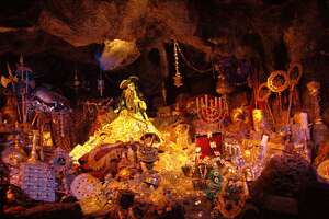 Pirates of the Caribbean at Disneyland once used human bones, and is rumored to have some remaining on the ride