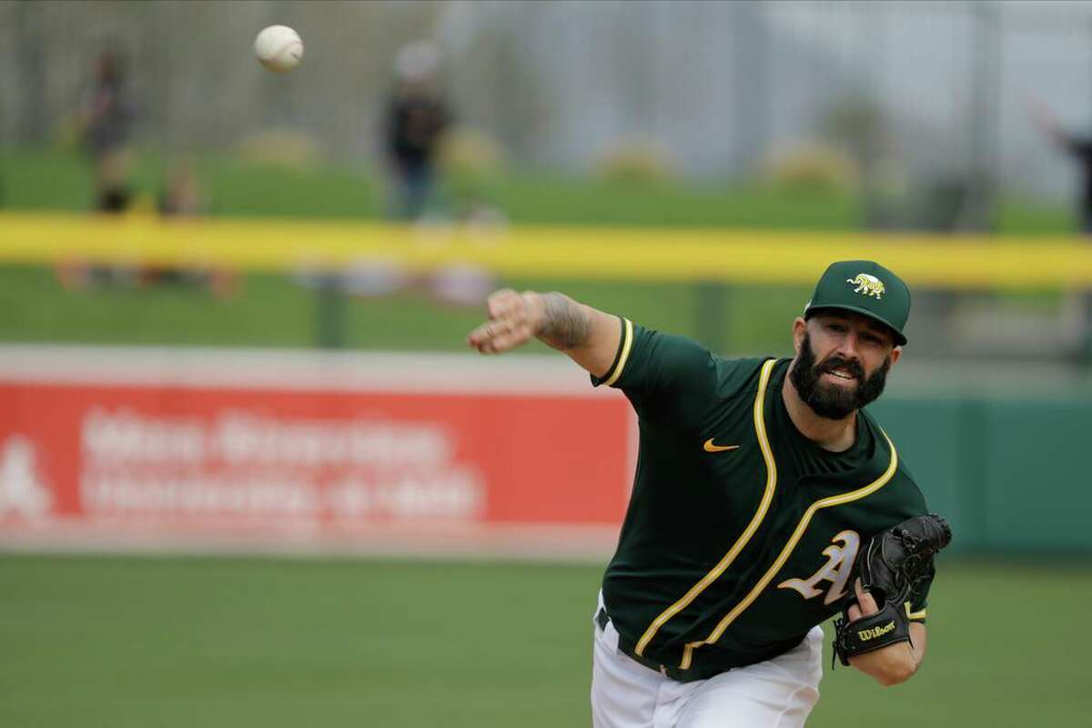 A's pitcher Mike Fiers has not pitched this season and now that he's healthy will initially come out of the bullpen for manager Bob Melvin.