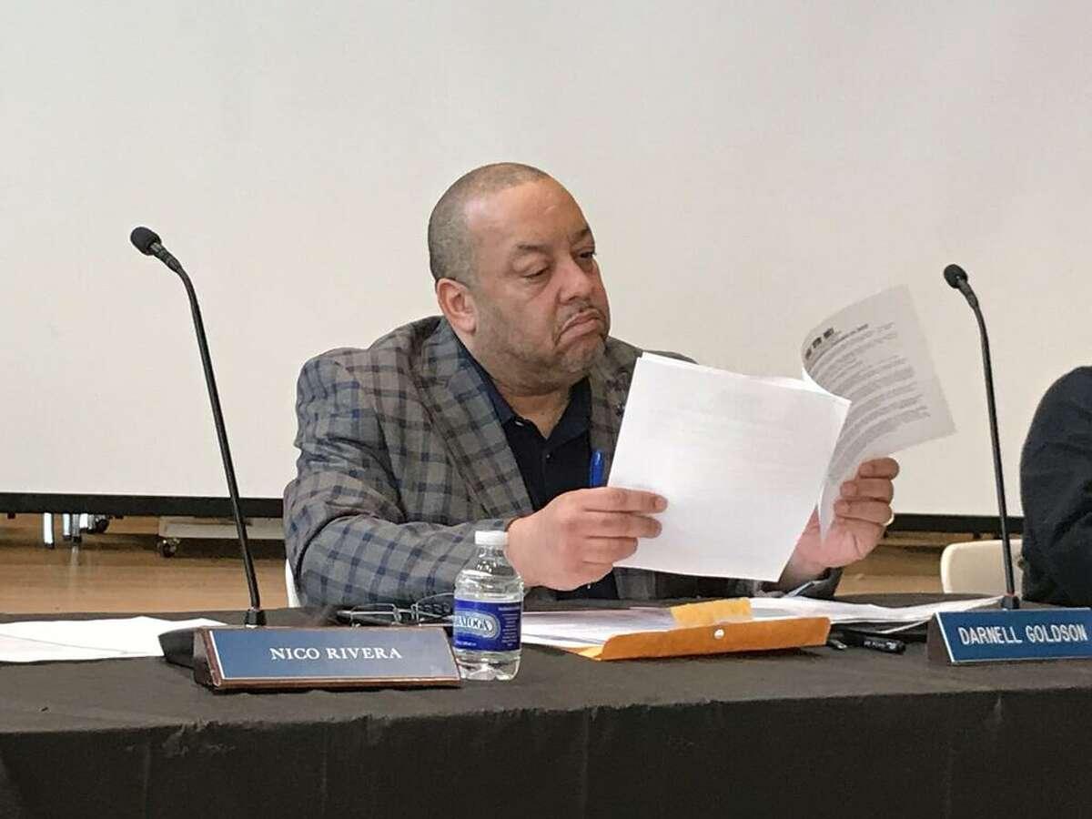Board of Education member Darnell Goldson, 2020.