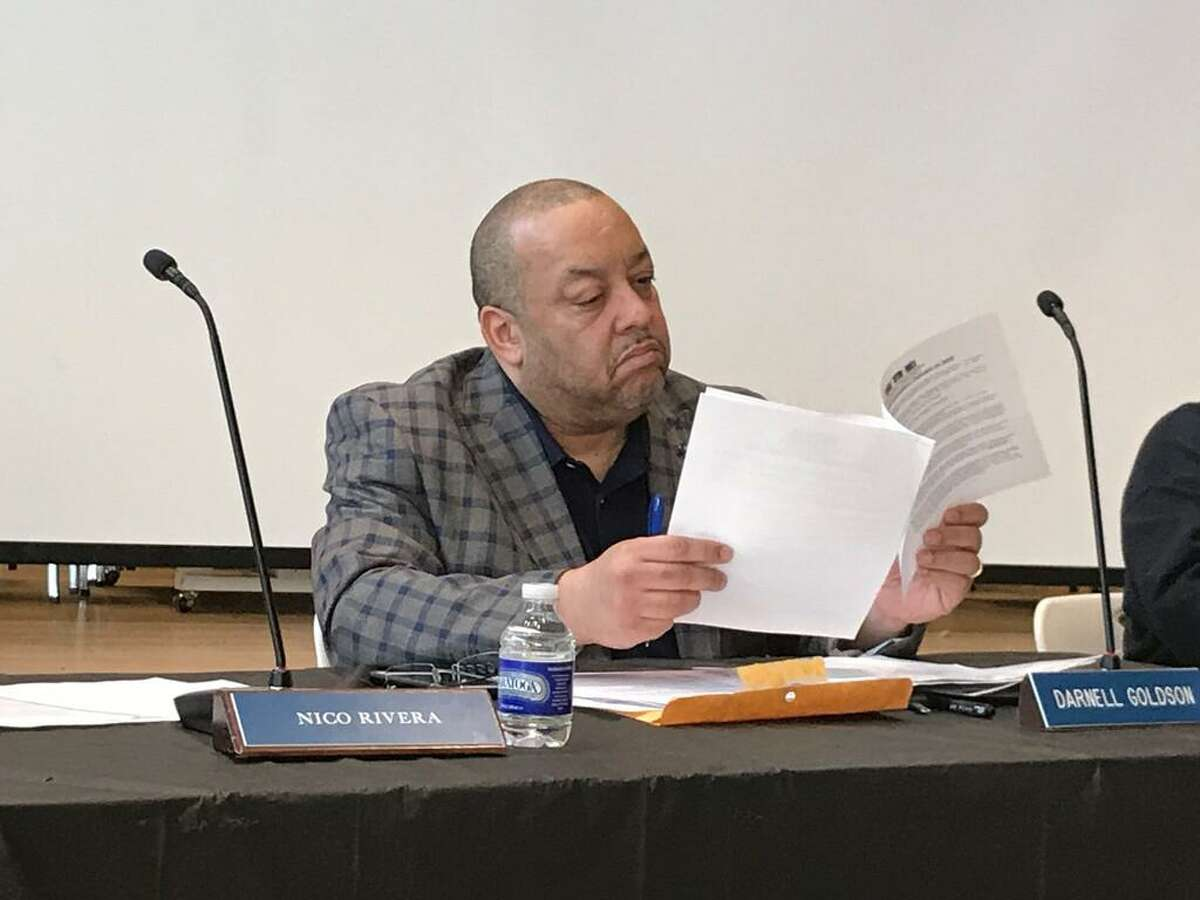 Board of Education member Darnell Goldson on March 9, 2020.