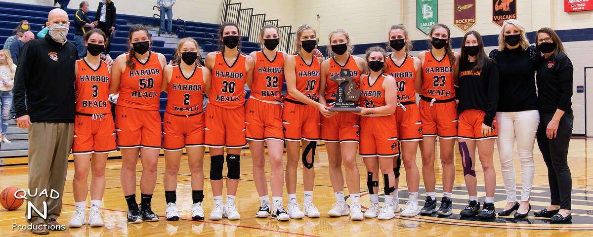 A season's worth of hard work paid off for the Harbor Beach girls basketball team on Friday night as the Pirates topped the Bad Axe Hatchets, 44-37, and captured a district championship. The Pirates move on to the regional semifinals against Hemlock on Monday. The game tips off at 5:30 p.m. at Bad Axe High School.