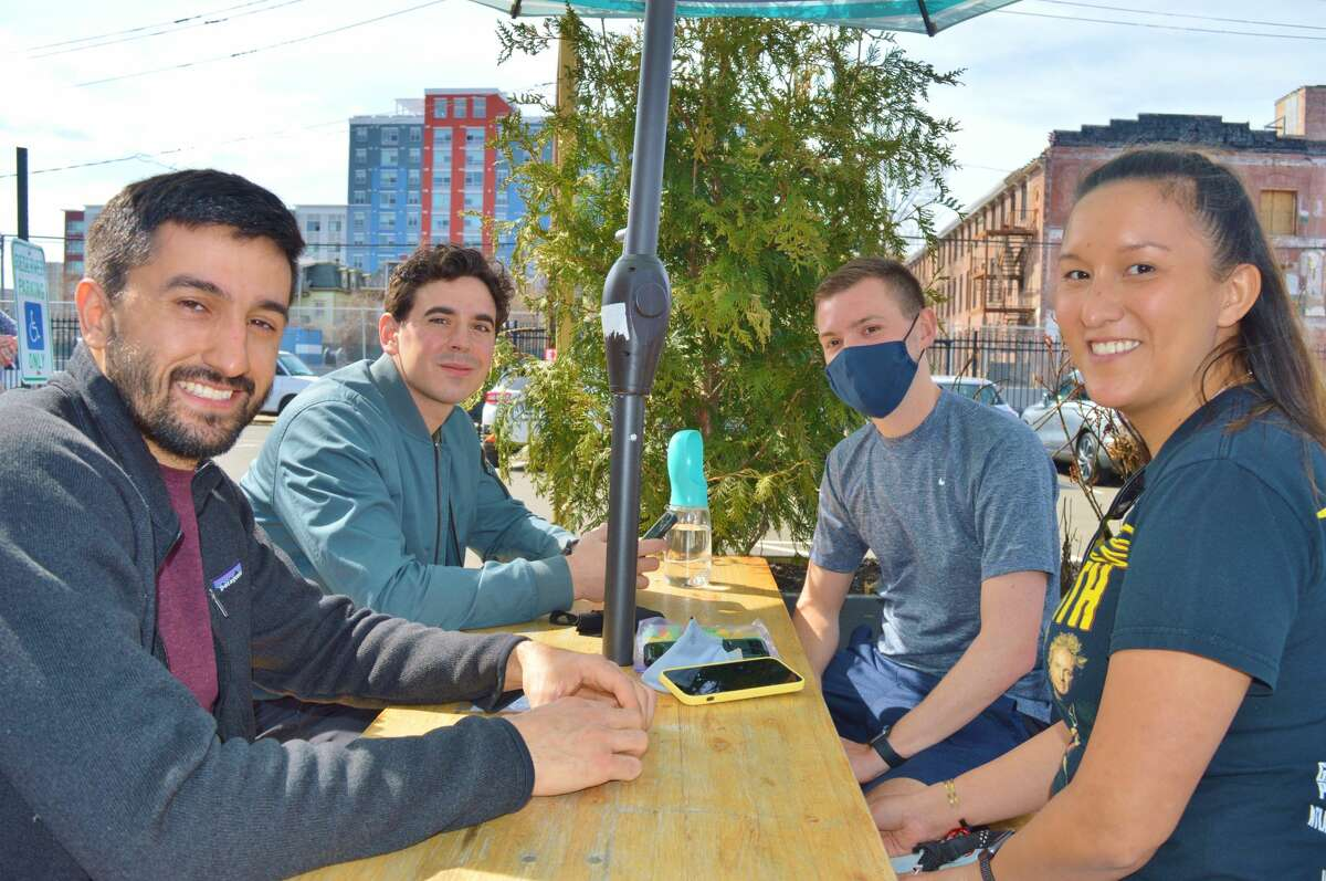 Were you SEEN enjoying the weather at Half Full Brewery's Third Place in Stamford on March 27, 2021?