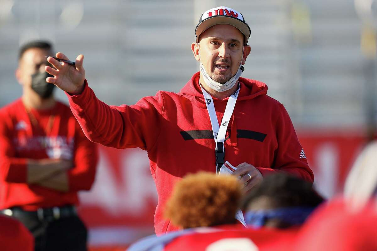 UIW coach Eric Morris and his team endured their first loss of the spring season Saturday against Nicholls State.