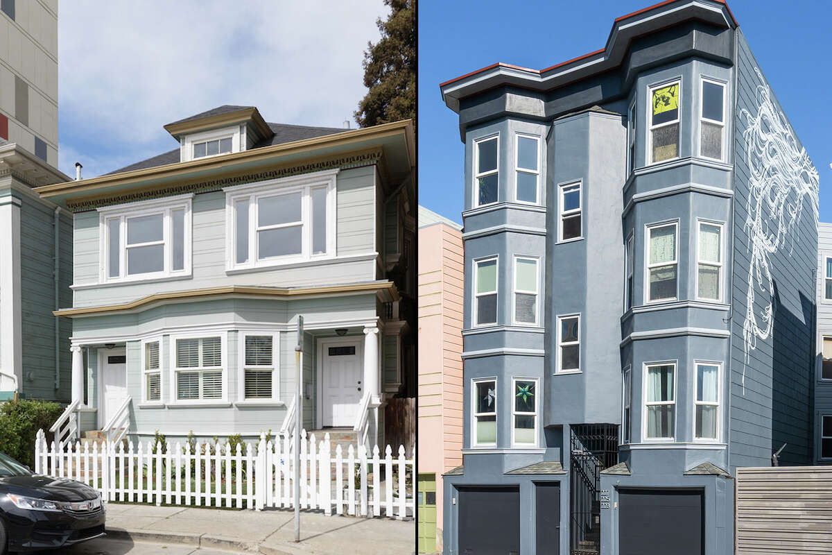 Two 'starter condo' homes in Oakland (left) and San Francisco
