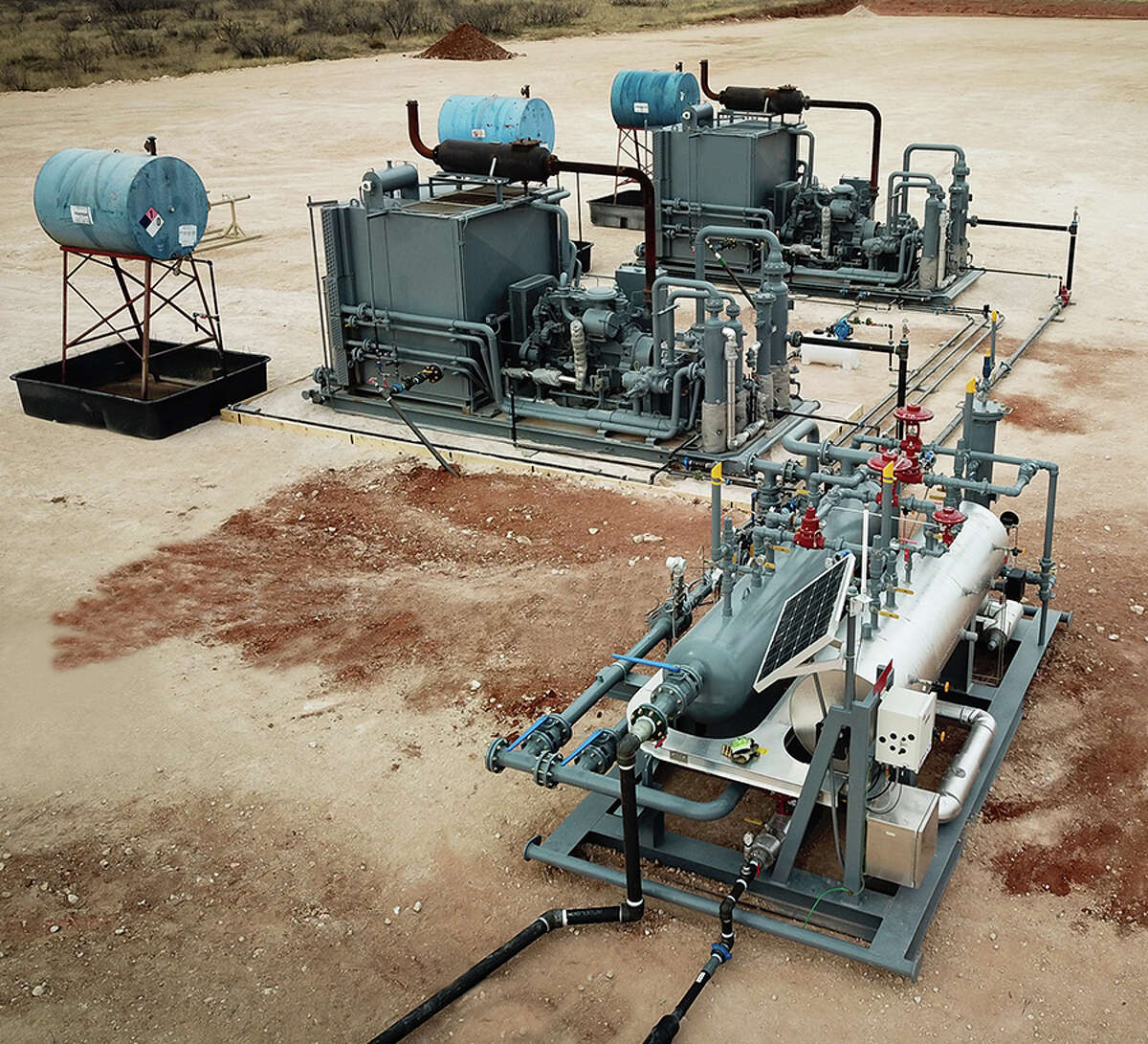 The QuickSet by Liftrock skid-mounted gas lift compressor system is not only quicker to install but captures 100 percent of fugitive methane emissions. Approximately 23 of the compressors are deployed at 19 sites in the Permian Basin.