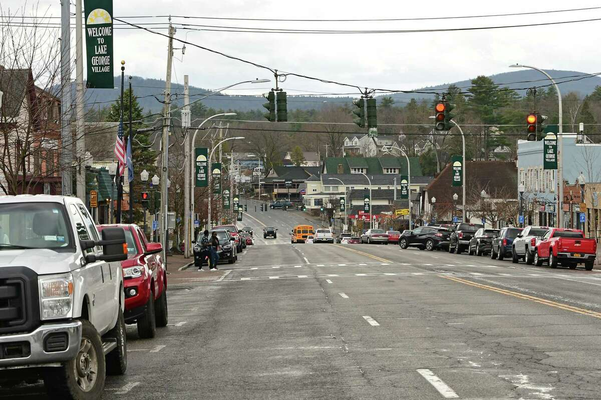 A view looking down Canada St. on Friday, March 26, 2021 in Lake George, N.Y. (Lori Van Buren/Times Union)