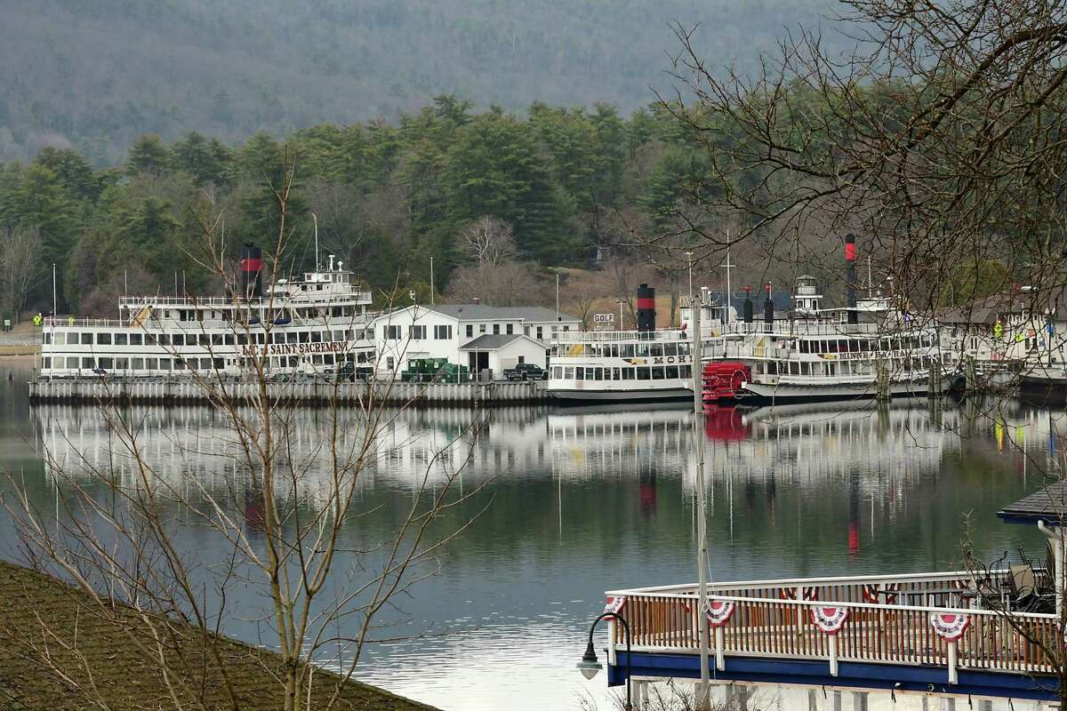 A view from Shepard Park on Friday, March 26, 2021 in Lake George, N.Y. Despite the efforts of bystanders, a man drowned off the park beach June 12, 2021. (Lori Van Buren/Times Union)