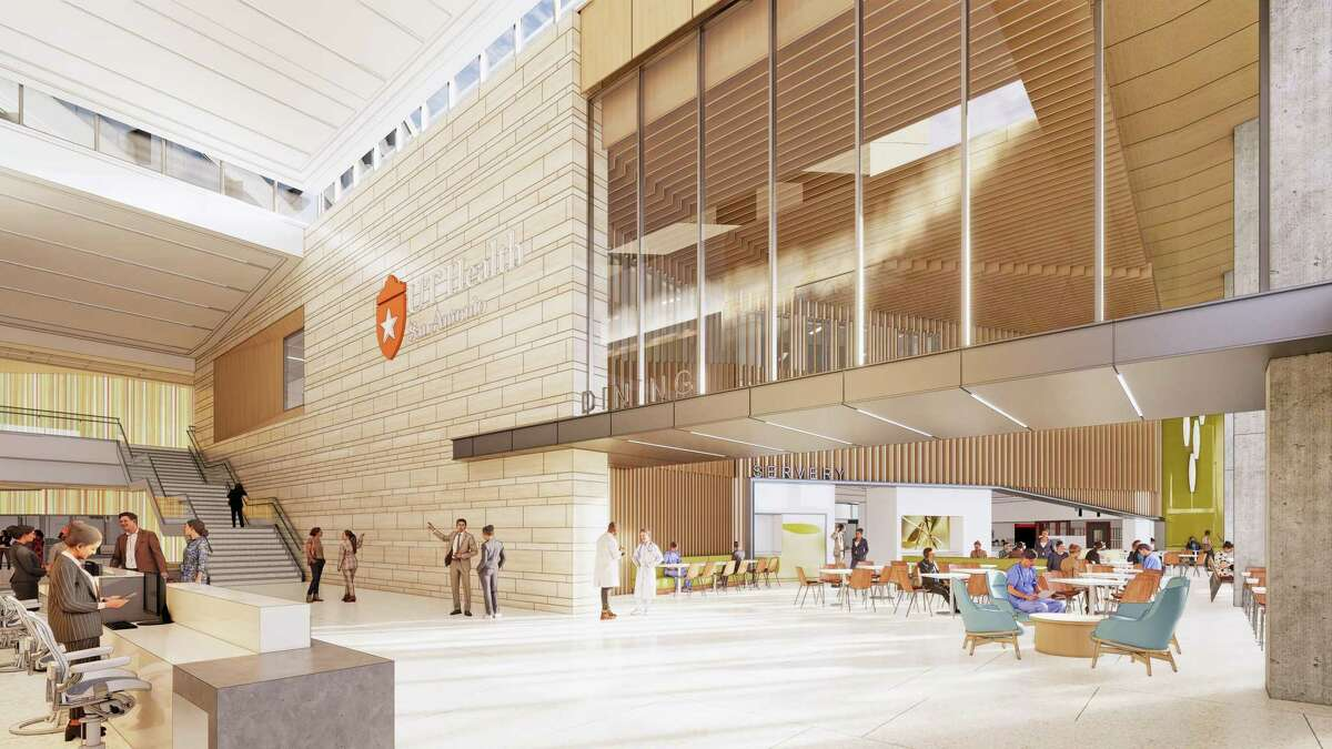 UT Health San Antonio released design renderings of its new 144-bed hospital, which will be built at the corner of Wurzbach Road and Floyd Curl Drive.