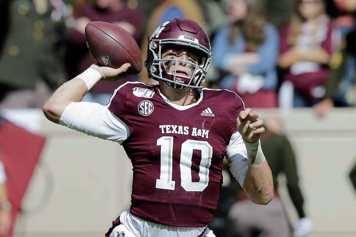 Zach Calzada is among the candidates to replace Kellen Mond at quarterback for the Aggies.