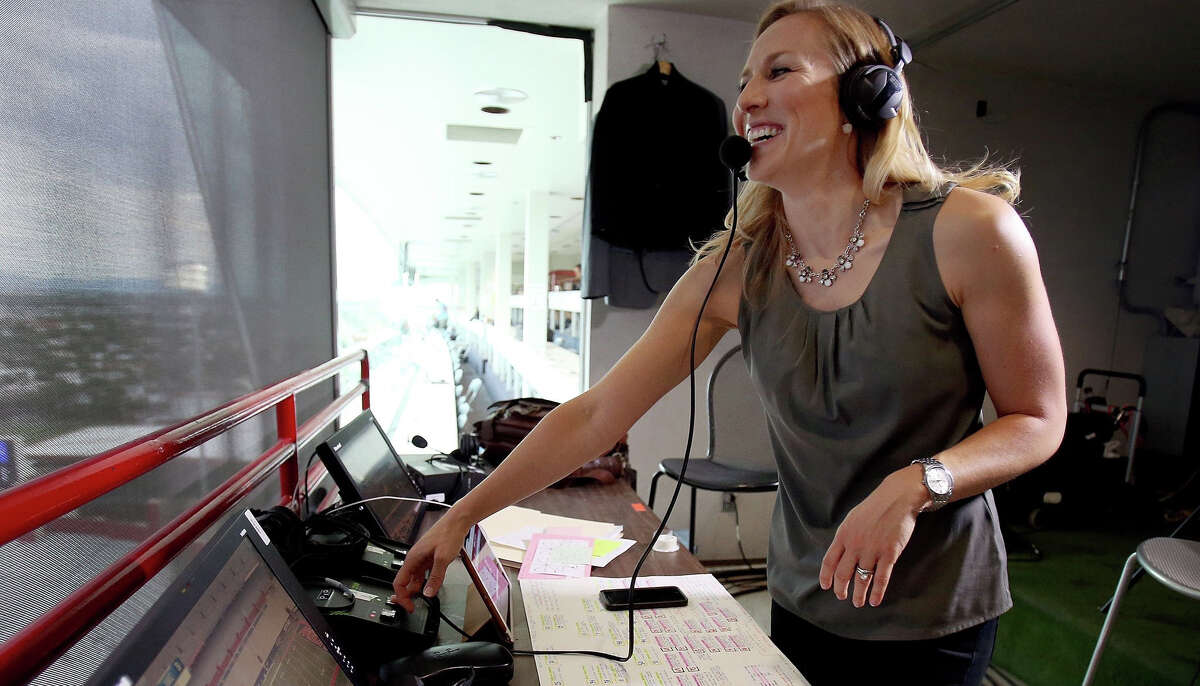Bay Area sportscaster Kate Scott will make history when she serves as the play-by-play voice for the Warriors on Monday.
