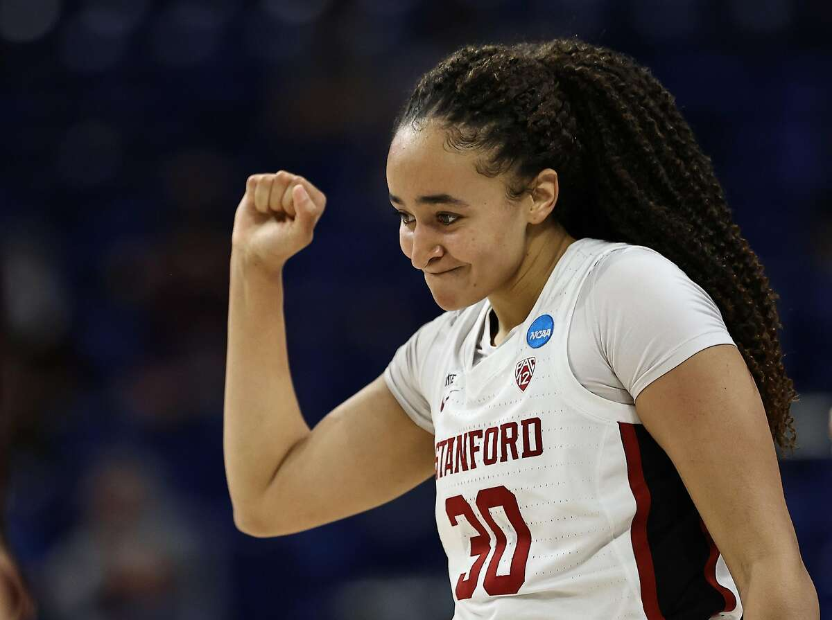 Haley Jones and Stanford meet Louisville in the Elite Eight at 6 p.m. Tuesday (ESPN).