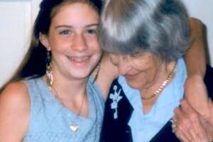 Isabel Burlingham, left, with her Mormor (grandmother) who inspired a love of small baked goods in Burlingham.