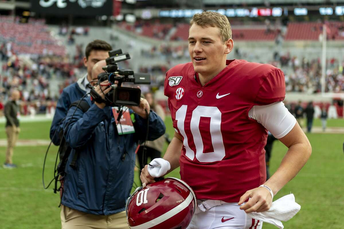 Alabama quarterback Mac Jones completed 77.4% of his passes and threw 41 touchdown passes and four interceptions last season for the unbeaten Crimson Tide.