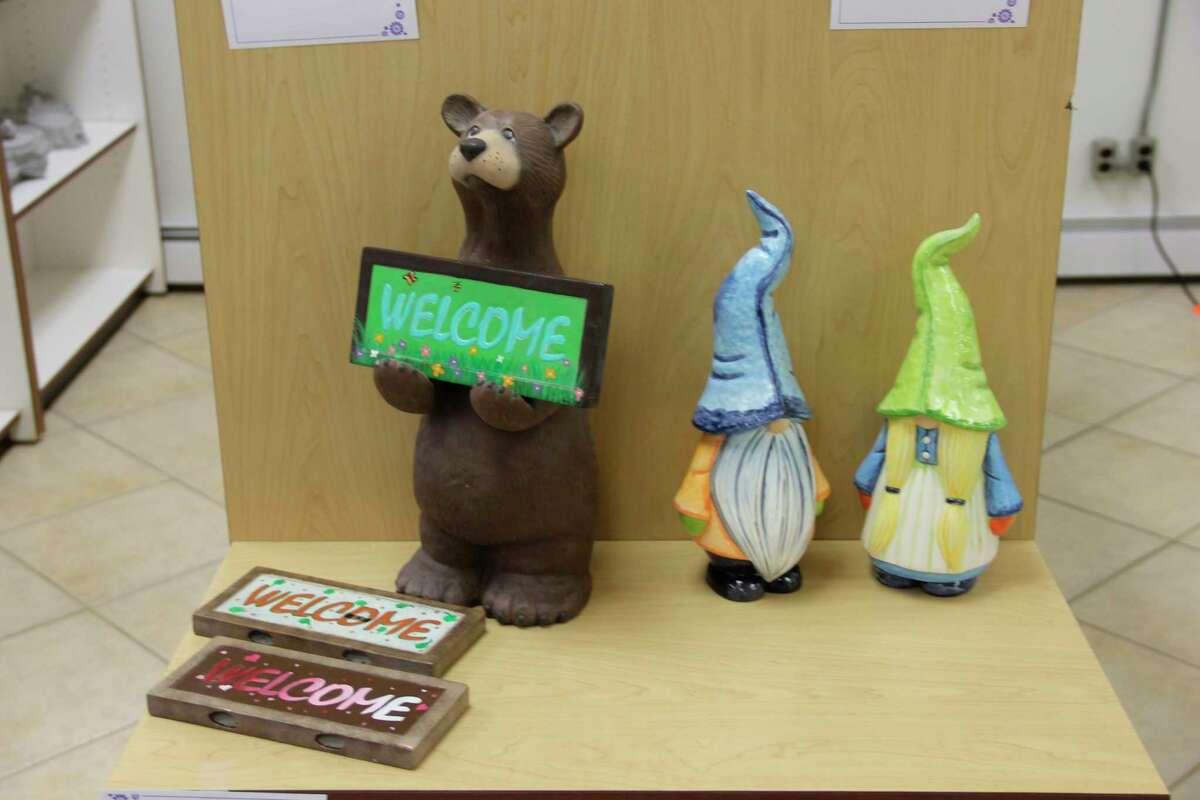 Some of the ceramics on display inside Creative Colors Ceramics & More. (Robert Creenan/Huron Daily Tribune)