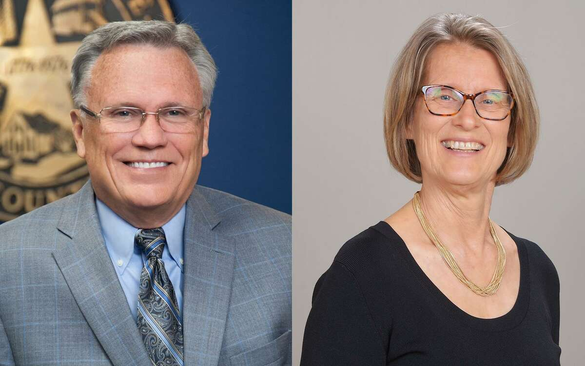 Norman Funderburk (left) and Arliss Ann Bentley (right) are running for mayor in the city of Humble May 1 election, with early voting starting April 19.