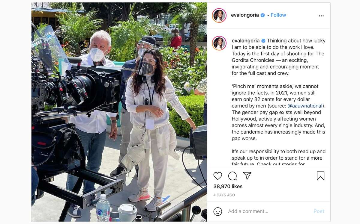 The actress shared an Instagram post from the first day filming on set.