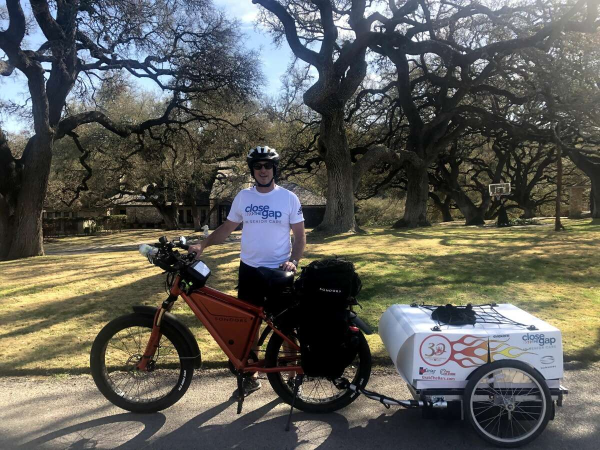Jeff Salter, the founder and CEO of Caring Senior Service, plans to e-bike 9,000 miles across the country on April 1 to celebrate his business providing 30 years of in-home care to seniors. The four-month journey kicks off in San Antonio as the company is headquartered in the Alamo City.