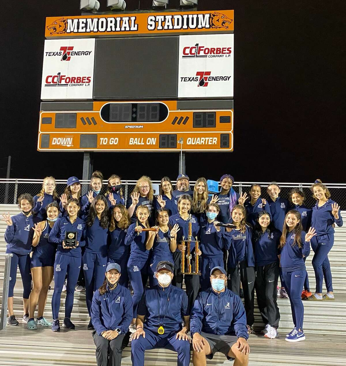 The Alexander girls' track and field team has won every meet it has competed in this year.