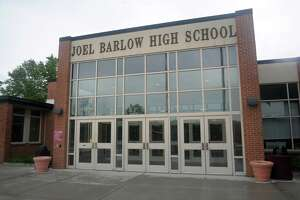 Exterior, Joel Barlow High School, in Redding, Conn. May 29, 2019.