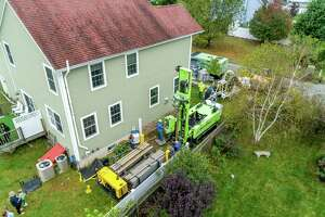A Dandelion Energy crew installs a geothermal energy system in Westchester County, N.Y. in an undated photo.